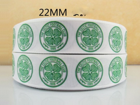 1 METRE OF CELTIC FOOTBALL CLUB RIBBON SIZE 7/8s HEADBANDS BOWS HAIR CLIPS CARD MAKING